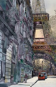 Paris. watercolor by john salminen