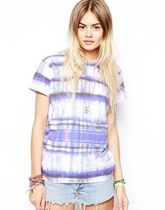 Image 1 of ASOS T-Shirt with Pastel Check