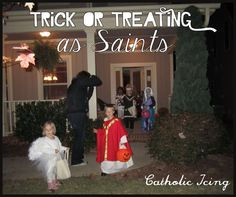 "Do trick-or-treating and All Saints' day go together? How do you combine ""Catholic"" with ""Halloween""?"