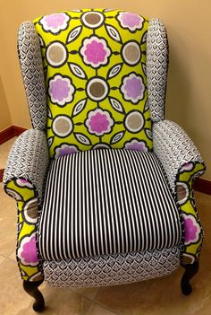 Wingback Recliner Chair by ArtandDesignGroup on Etsy