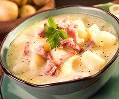 Potato and Ham Soup - Recipe.com (via @recipedotcom)