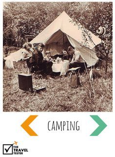 Vintage Travel Photo: Camping Family | The Travel Tester