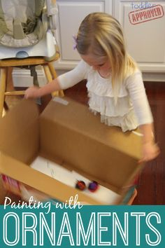 Toddler Approved!: Painting with Ornaments