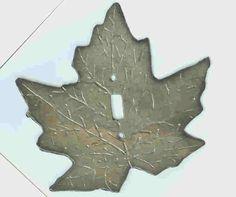 Image Detail for - Maple Leaf Light Switch Cover : Slate Creations, Handmade Slate Light ...