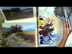 """The Red Tree"" Part 9 - Beginning Step by Step Acrylic Country Road Landscape Painting Demo - YouTube"