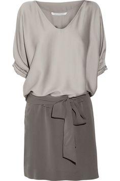 Edna stretch-silk satin and silk-crepe dress by Diane von Furstenberg