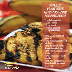 Grilled Plantains with Toasted Sesame Seeds