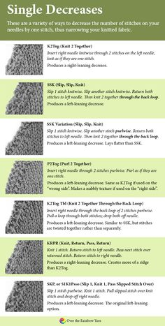 Types of Knitting De