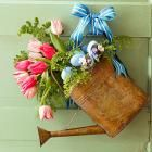 12 Welcoming Spring Door Decorations: Add spring cheer to your front door with our DIY seasonal containers and wreaths. from Midwest Living