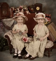 Afternoon Tea - beautiful little ladies!