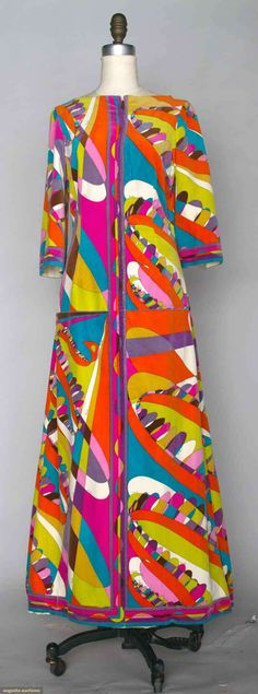 Pucci Velvet Print Dress, 1970s, Augusta Auctions, November 13, 2013 - NYC