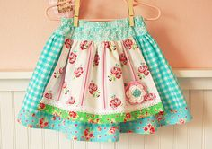 Little Girls Apron Skirt