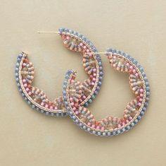 Seed bead Hoops
