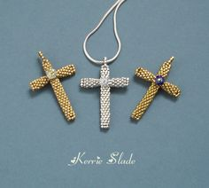pilgrim cross, bead tutorial cross, pilgrims, kerri slade, nice cross, crosses, free patterns3, contemporari beadwork, jewelri