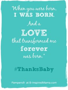 When A Parent Is Born - #sponsored #ThanksBaby #parenting #motherhood #kbn #binspiredmama