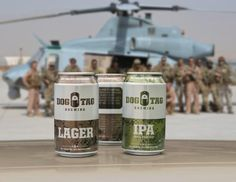 "With a tagline of ""Enjoy your beer. That's an order,"" Dog Tag Brewing was created to provide quality beers that deliver a message of gratitude for the selfless sacrifice of the nation's military. The company works with families who have lost a loved one in the line of duty and details their personalized stories on its beer cans. In addition, a portion of its proceeds are donated to organizations selected by each family to individually honor their fallen hero. tag brew, dog tags, famili"