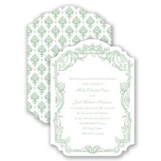 Rococo Romance Wedding Invitation by David's Bridal #davidsbridal #weddinginvitation #romanticweddings