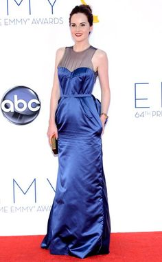 MICHELLE DOCKERY wearing Dark SIde of the Moon with Flat top matte top coat at the Emmys