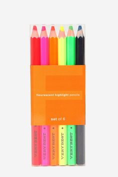 Fluorescent Highlighter Pencil - Set Of 6  #UrbanOutfitters