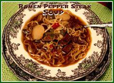 Sweet Tea and Cornbread: Ramen Pepper Steak Soup!
