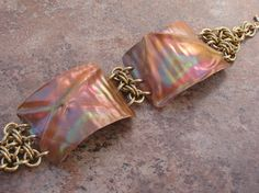 Fold formed copper and bronze chainmaille by metalandmaille, $135.00