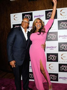 An exuberant Wendy Williams and husband Kevin Hunter get the party started Thursday at a bash celebrating the 500th episode of her eponymous talk show in New York City.
