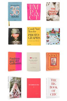 Coffee table books.