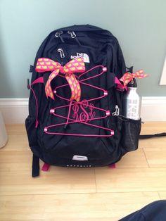 Monogramed North Face Backpack