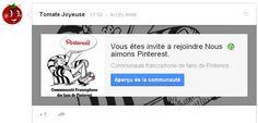 ► Rejoignez moi  : Sur Google plus : la Communauté francophone des fans de #Pinterest  https://plus.google.com/communities/106460263856587433484
