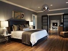Gray wall bedroom