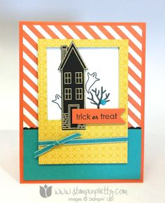 Stampin up stamping pretty demonstrator blog holiday home homemade framelits dies halloween ideas