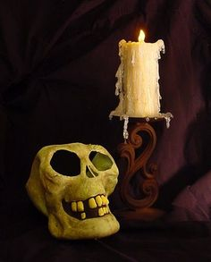 DAVE LOWE DESIGN the Blog: '08 Halloween #20: Making a Flameless Candle