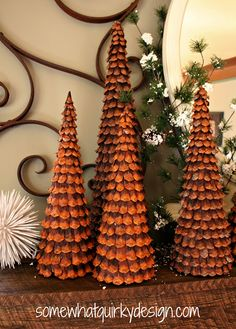 DIY Pine Cone Christmas Trees - Somewhat Quirky Design
