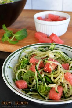 feta salad, watermelon