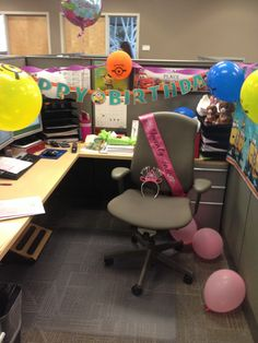 Stephs Cubicle Just Got Raided By The Birthday Flash Mob