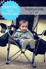 camping with toddlers - LOVE the glowstick idea!
