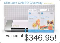 Want to win a Silhouette CAMEO? #giveaway @Silhouette America...don't enter so I can win this time...please :)