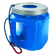 Use a large plastic coffee container as a trash receptacle. First, cut a 2-inch-diameter hole in the lid. Then, drill a small hole through the handle and the lid. Thread a piece of cord through the holes to serve as a lanyard. camping tips, plastic bags, portabl trashcan, trap loos, coffee cans, canoe trip, at the beach, loos trash, boat
