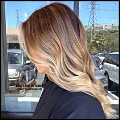 Cool platinum balayage blonde