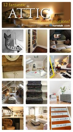 Stop wasting precious space and use your attic for something amazing! Love the boy's bedroom idea!
