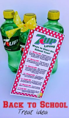 7-UP Back to School Treat. From Marci Coombs Blog