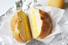 """14 Reasons NYC Is The Best Place On Earth #refinery29  http://www.refinery29.com/i-love-new-york#slide10  Bodega Egg And Cheese """"There is no greater comfort in NYC than the egg-and-cheese sandwich. Take yours how you will, but I love my eggs just cooked with a piece of creamy, melted, white American cheese folded inside and slipped in between a slightly toasted fresh roll. Allow me to dip it in some ketchup and wash it down with a white and sweet (that's bodega coffee with cream and two ..."""