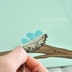 How to paint a nest, art skills not required!!!