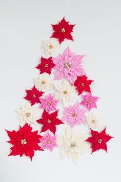 Clay Poinsettias for Christmas Decor