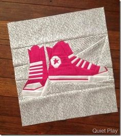 Paper Pieced Converse Shoes by Quiet Play Pattern on Craftsy