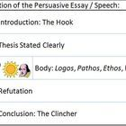 This packet contains information on essay/expository writing including the hook, thesis, persuasive techniques (appeals to logos, pathos, and ethos...