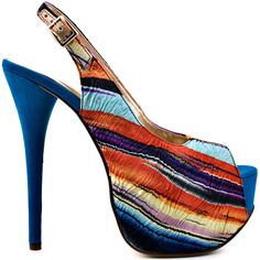 Heels I Love #heels #summer #high_heels #color #love #shoes Too Much Fun - Blue Fabric                      Luichiny
