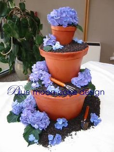 Never thought of stacking pots before, but I like it. (I think this is actually a cake though)