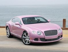 Pink 2012 Bentley Continental GT