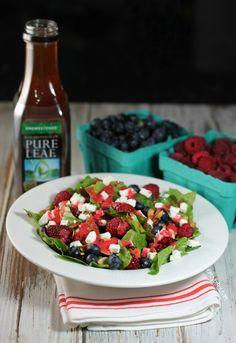 Farmer's Market Berry Salad - Emily Bites